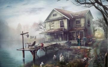 Дом у озера взлом
