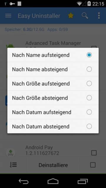 Easy Uninstaller на андроид