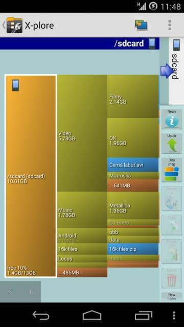 X-plore File Manager на андроид